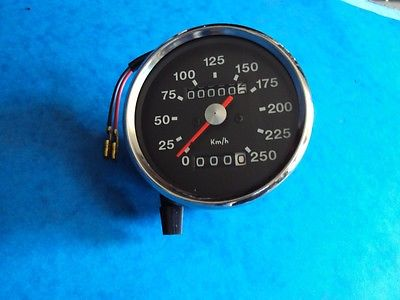 SMITHS TYPE BLACK FACE SPEEDOMETER KPH BSA A65 NORTON TRIUMPH BONNEVILLE
